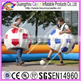 Factory outlet human inflatable bumper ball suit/inflatable bubble soccer