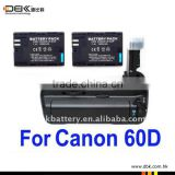 BG-E9 Battery Grip for Canon EOS 60D + 2X LP-E6 Battery