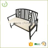 Special designed outdoor garden bench with seat cushion and back cushion/2015 new product