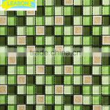 Diamante beveled glass mirror marble table top mosaic tile