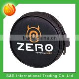 popular round PU leather CD case with 12 CD inside