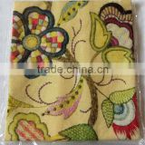 kitchen digital printed linen tea towel for home decorationl,promotion and gift--embroidered Classic flower design