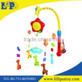 Rotating and musicl baby cartoon bed bell toy