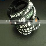 Competitive price and authentic quality promotional Palestine silicone wrist bands ---- DH 16999