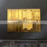 Custom stainless steel metal etching parts Brass metal precision meshes fabrication high precision terminal ---DH20580