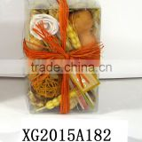 Orange Aroma Potpourri And Dried Flower In PVC Box