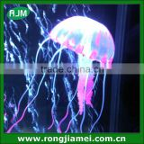 Fluorescent pink aquarium artificial silicone jellyfish ornament fish tank decoration colorful
