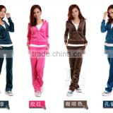 Brand name tracksuit jogging suit velour tracksuit hoodies                                                                         Quality Choice