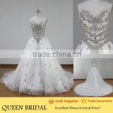 Real Works Crystals BeadsTurkish Wedding Dresses New Models 2016                                                                         Quality Choice