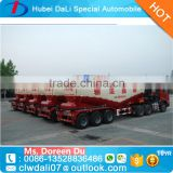 China factory cheap 3 axle 60cbm container bulk powder transportation truck trailer