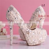 OW18 neoteric lady white grass slipper wedding shoes