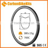 CarbonBikeKits 700c road bicycle U shape 38mm tubular carbon rims                                                                         Quality Choice