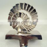 Wheel Stocking Holder with Bright Finised , Christmas Tree Stocking Holders For Home Decorations, X mas Stocking Holders.