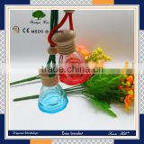 2016 china wholesale market classic coloured car perfume glass bottle sale with many shape