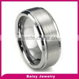 Hot Sale Fashion 8MM High Polish Matte Finish Men's Tungsten Wedding ring