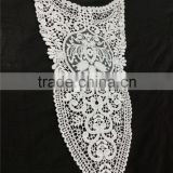 exquisite fashion cotton embroidiery lace water soluble collar for ladies suit dress blouse