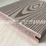 140X25 mmWPC (Wood Plastic Composites ) Solid Decking Floor with Brushed Embossed Wood Grain for Outdoor Decoration