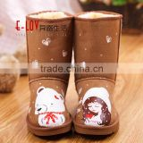 Hot sales high quality and cheap womens brown fur boot