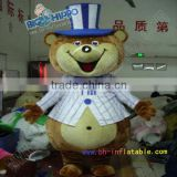 Fancy suit magic bear cartoon high quality custom mascot costume