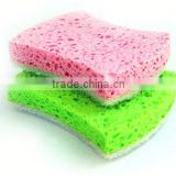 100% cellulose scrub sponge,super absorbent cellulose scrub sponge,kitchen cellulose sponge within scouring pad