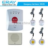 GSM SMS Smart emergency calling alarm system with bracelet panic button for medical care