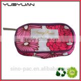 2015 Manufacturer dump beautiful low cost promotional personalized girls fashion purple small travel cosmetic bag without handle