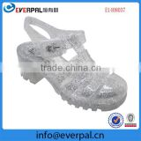 Nice design ladies pvc sandals slippers,stylish heel sandals crystal pvc jelly sandals