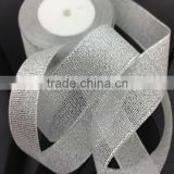 China Manufacturer Wholesale Gold and Silver Colorful Metallic Ribbon for christmas tree decoration