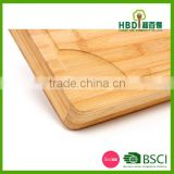 Durable Natural Bamboo chopping block, butcher block, cutting board for sale