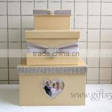 High quality wedding money box with photo frame for best widding gifts