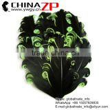 Leading Supplier CHINAZP Bulk Sale Good Qualilty Dyed Black with Lime Green Curled Goose Feathers Pads for Hair Accessories