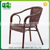 Suppliers to provide new products Beautiful Non-wood Aluminum french bistro rattan chairs