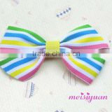 Custom chocolate packing ribbon bow with elastic loop pre-made bow for baking decoration