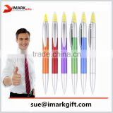 2 in 1 highlighter pen mulitfunction marker pen twist plastic ball pen