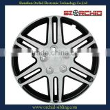 set of 4 plastic 13 inch silver and black wheel cover for bus