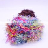 100% nylon feather yarn , with heat setting , nylon feather yarn fancy yarn