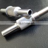 Stainless Steel Flexible knurling shaft machined,knurl shaft machining