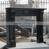 Top Quality Polished China Black Granite Fireplace