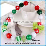Small Colorful balls green girls' bowknot Christmas charm ornament bracelet