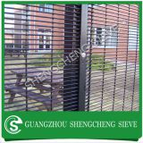 Hot dipped galvanized steel vinyl coated black welded wire mesh panels clearvu fence (China manufacturer)