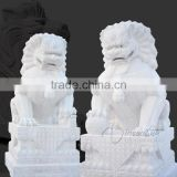cheap and high quality stone carving large fu dog statue
