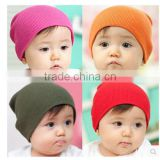 Winter hat knitted beanies plain baby knitted hat