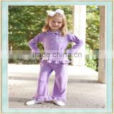 Super soft light purple lapel name winter clothes silk pajamas set christmas costome