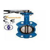 Small Manual Wafer Butterfly Valves / A Type Butterfly Valve with Ductile Cast Iron or Bronze