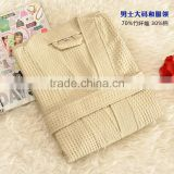 wholesale high quality men's robe , bamboo waffle bathrobe, Bamboo Men's Bathrobes