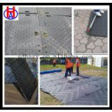 UHMWPE and HDPE engineering plastic ground protection mat / temporary road mat   from China