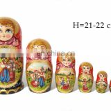 Summer Couple Wooden Nesting Dolls Buy Matryoshka Dolls Stacking Dolls For Kids Wooden Construction Toys Set 5 pc