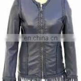 lamb leather fashion winter jacket