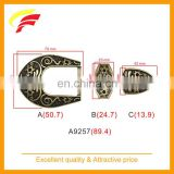 antique style zinc alloy pin buckle set for women's belt. pin buckle + metal loop + tail end