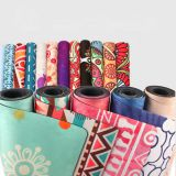 RUIBOO High quality full color printing stability suede surface rubber yoga mat
